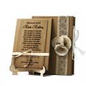 Cadou educatoare poezie gravata pe lemn