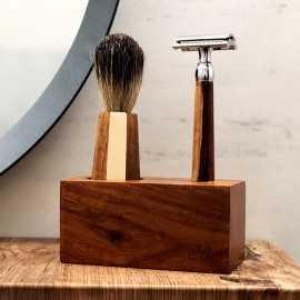 Set barbierit personalizat in cutie piele