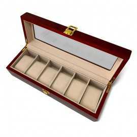 Cutie lemn gravata pentru 6 ceasuri barbati