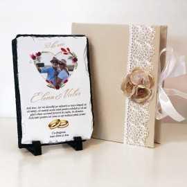 Cadou aniversare nunta personalizat cu poza