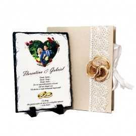 Cadou nunta personalizat cu poza mirilor