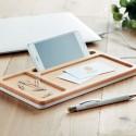 Organizator birou din lemn cu incarcator wireless