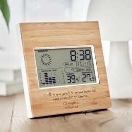 Statie meteo cu lemn personalizata