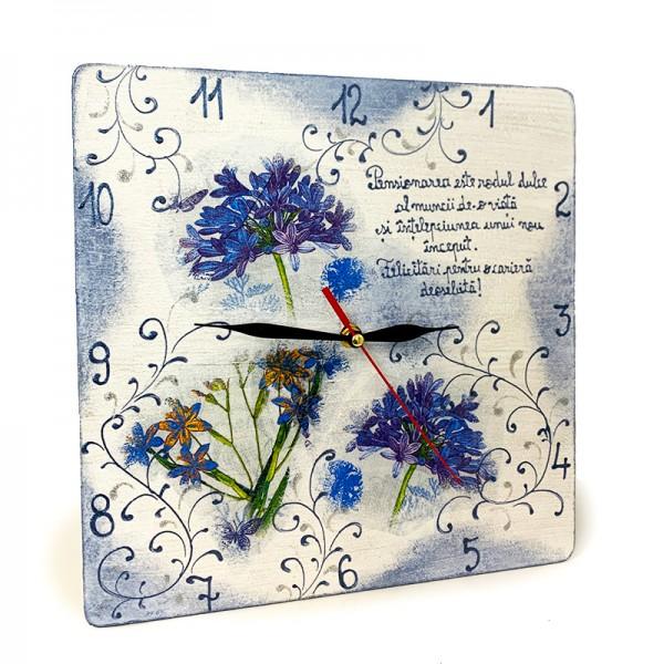 Ceas pictat manual cu Mesaj de pensionare
