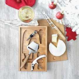 Accesorii vin si branzeturi in cutie lemn personalizata