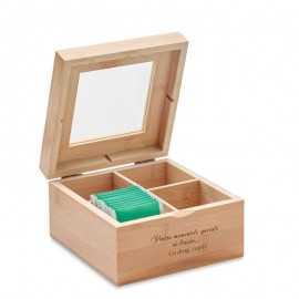 Cutie lemn pentru plicuri ceai personalizata