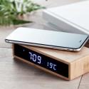 Ceas lemn cu incarcator wireless