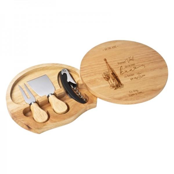 Set accesorii vin si branzeturi personalizat