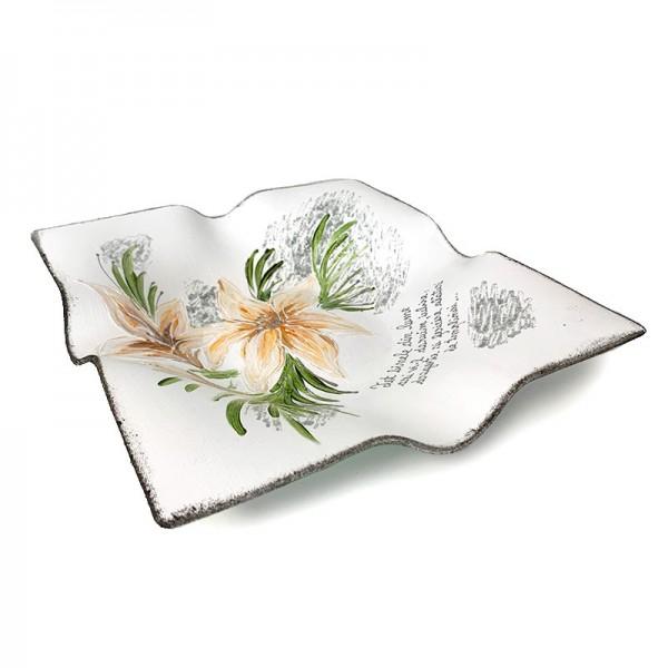 Platou pictat manual Magnolie